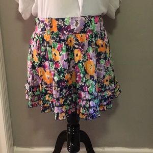 EUC Candies floral mini skirt w ruffles size 9